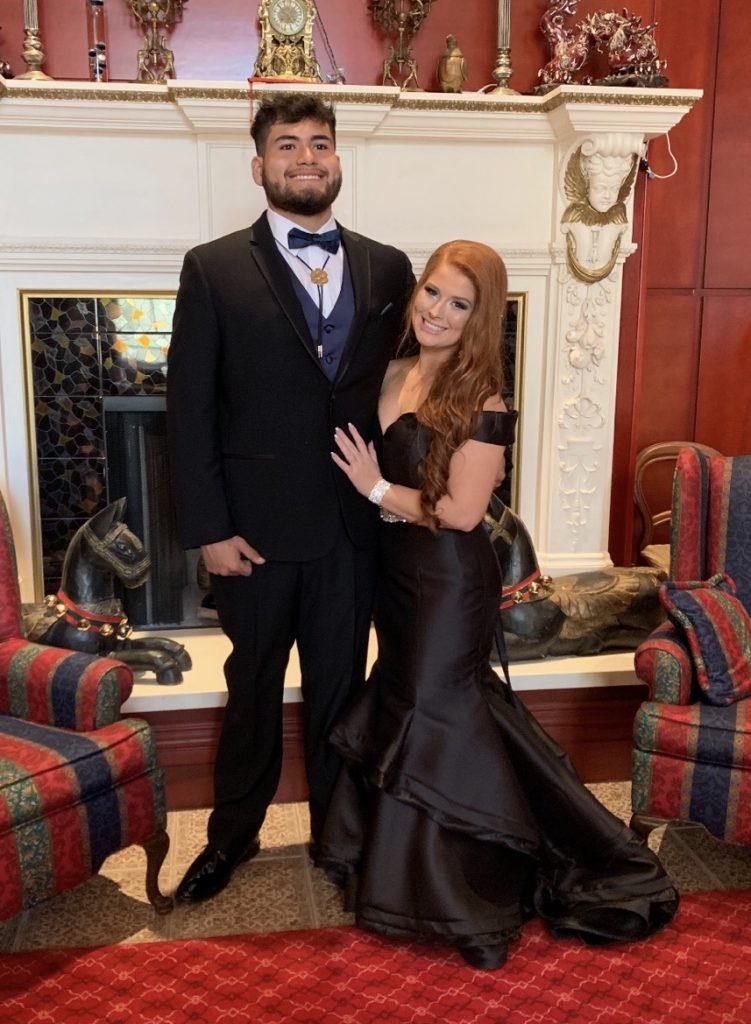 aesthetic-black-blackdress-prom-redhead-tan