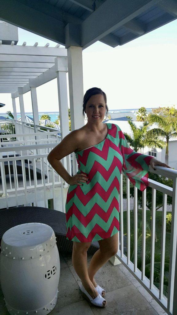 chevron-dress-tan-glow-vacation-palmtrees