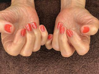 peachy-manicure