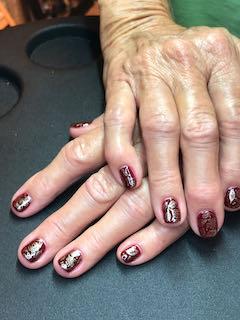 silver-maroon-nail-art